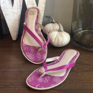 UGG Pink Purple Flip Flops Size 8